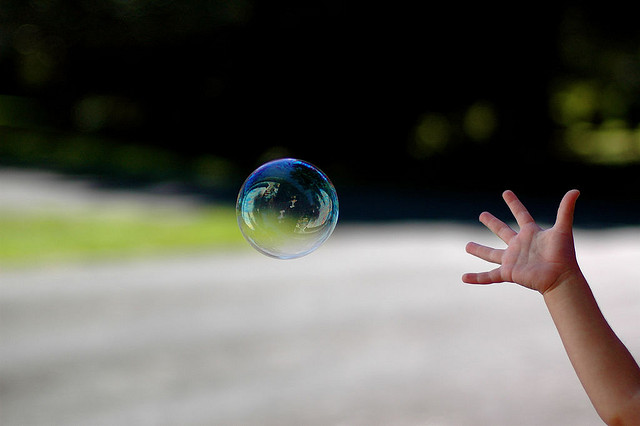 turning your dream into a reality - catching a bubble