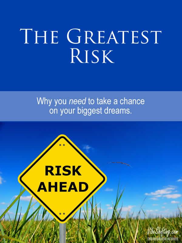 The Greatest Risk - Pinterest pin