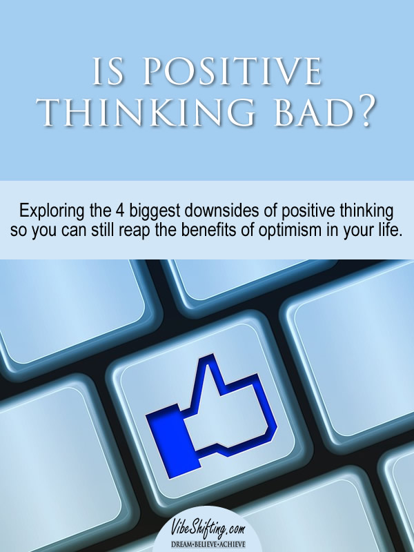 Is positive thinking bad - pin