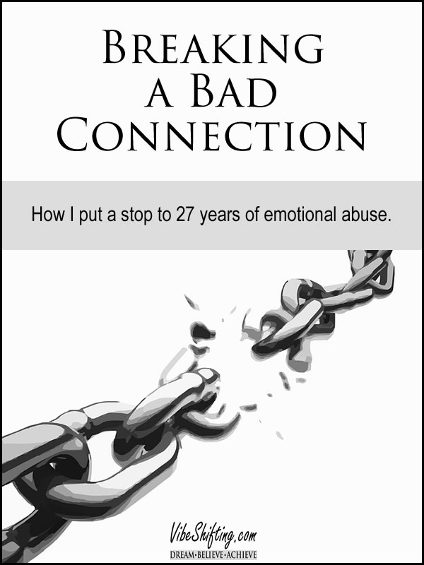 Breaking a bad connection - Pinterest pin