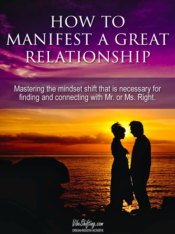How to Manifest a Great Relationship - Pinterest pin