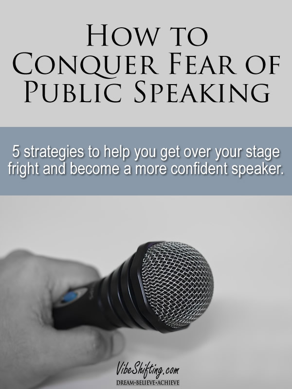 How to Conquer Fear of Public Speaking - pinterest image
