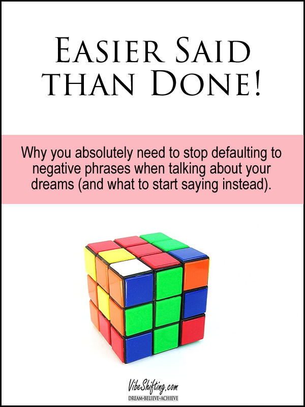 Easier said than done - Pinterest image