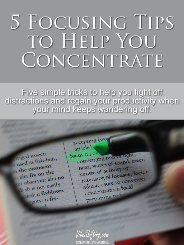 Focusing Tips to Help You Concentrate - Pinterest pin