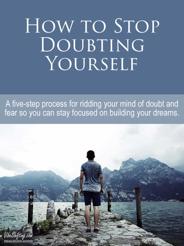 How to Stop Doubting Yourself - Pinterest pin