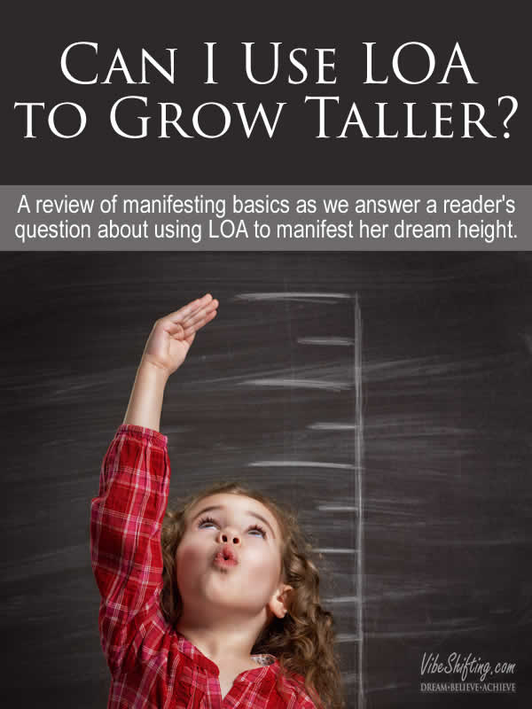 Can I Use Law of Attraction to Grow Taller - Pinterest pin