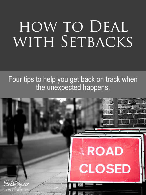 How to Deal with Setbacks - Pinterest pin