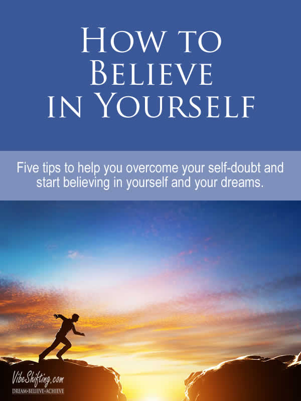 How to believe in yourself - Pinterest pin