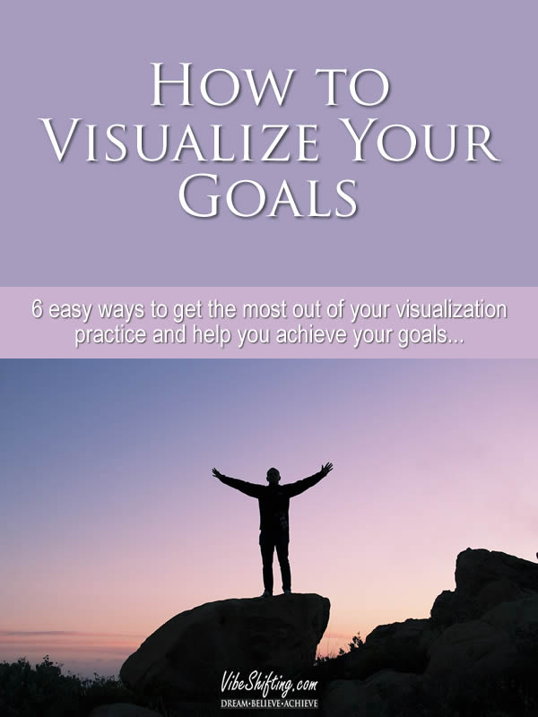 How to visualize your goals - Pinterest pin