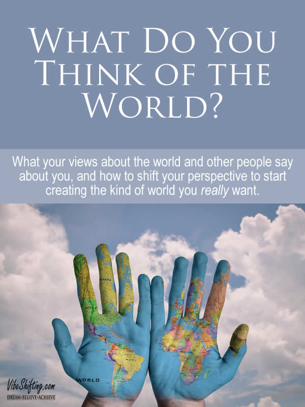 What do you Think of the World - Pinterest pin