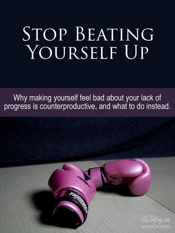 Stop Beating Yourself Up - Pinterest pin