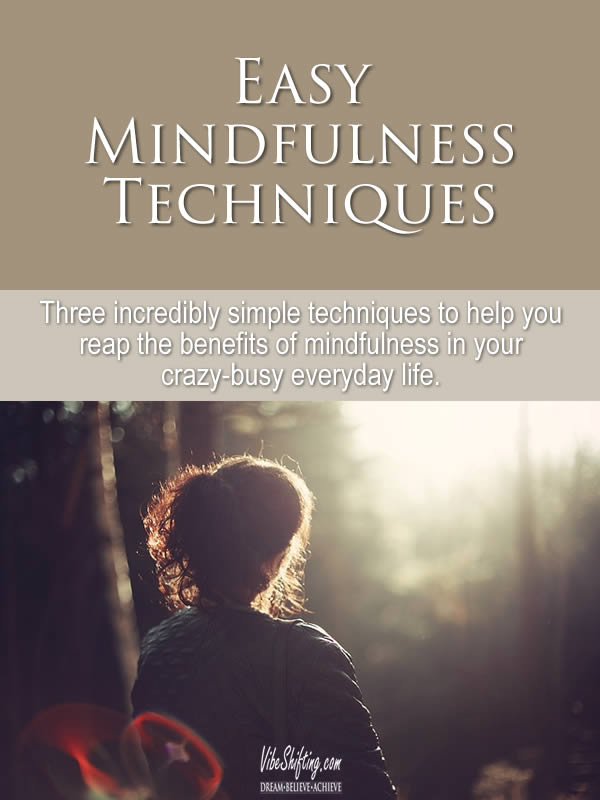 Easy Mindfulness Techniques - Pinterest pin