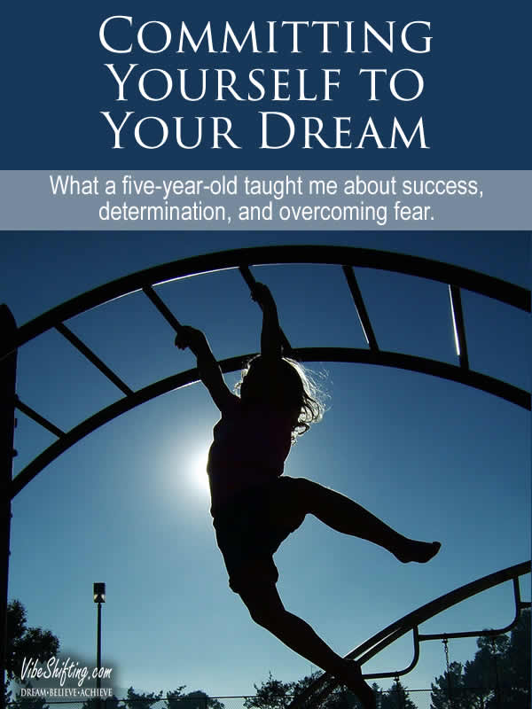 Committing Yourself to Your Dream - Pinterest pin