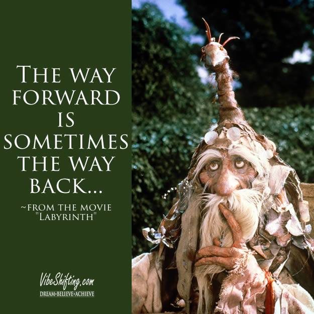Sometimes the way forward is also the way back - image quote