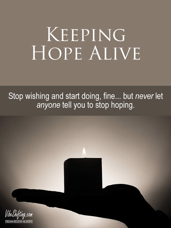 Keeping Hope Alive - Pinterest pin