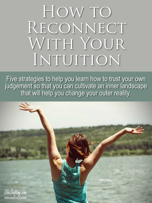 How to Reconnect with Your Intuition - Pinterest pin