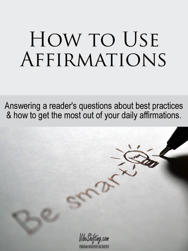 How to Use Affirmations - Pinterest pin