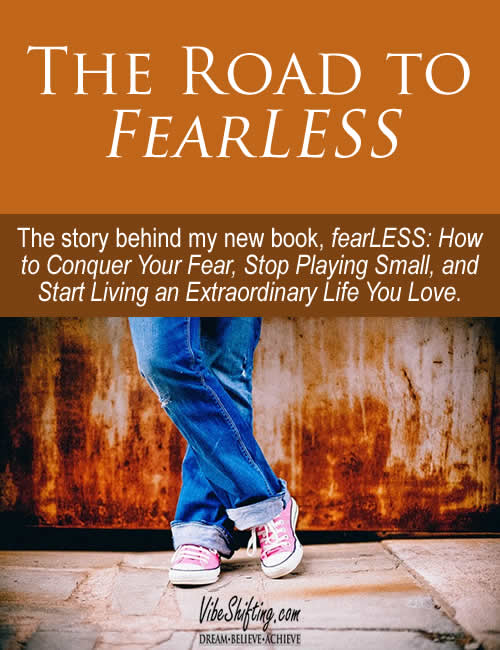The Road to fearLESS - Pinterest pin