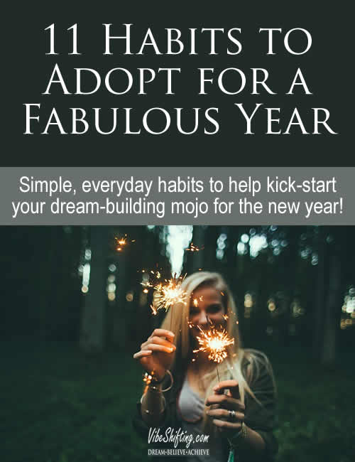 11 Habits to Adopt for a Fabulous Year - Pinterest pin