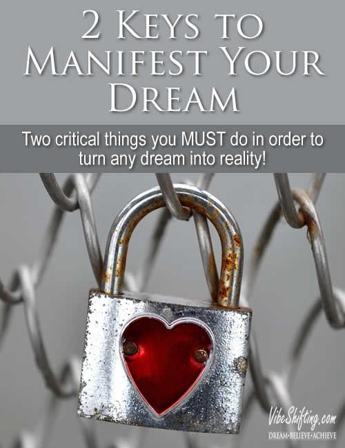 2 Keys to Manifest Your Dream - Pinterest pin