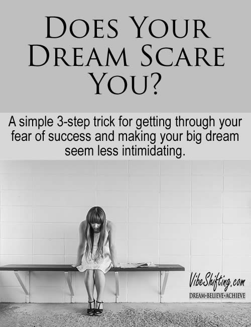 Does Your Dream Scare You - Pinterest pin