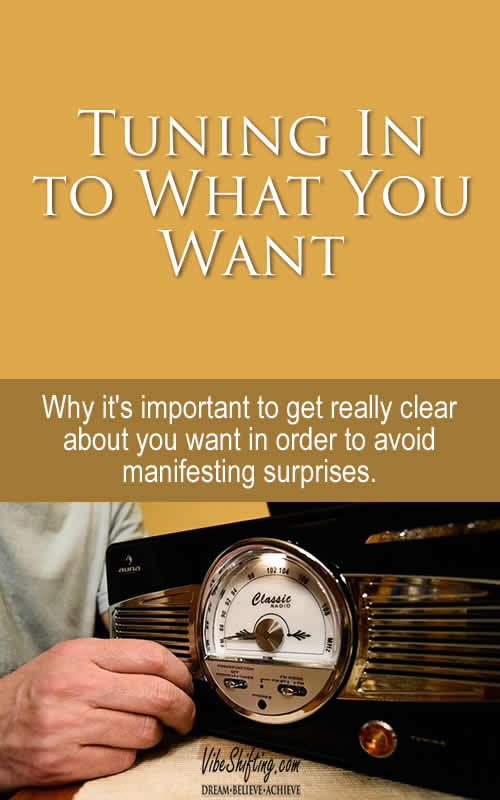 Tuning In To What You Want - Pinterest Pin