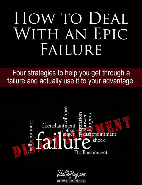 How to Deal With an Epic Failure - Pinterest pin