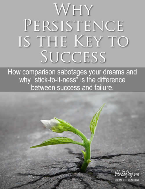 Why Persistence is the Key to Success - Pinterest pin