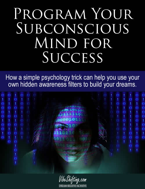 How to Program Your Subconscious Mind for Success - Pinterest pin