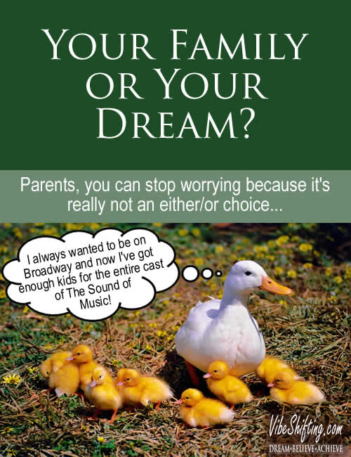 Your Family or Your Dream - Pinterest pin
