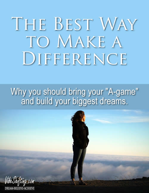 The Best Way to Make a Difference - Pinterest pin