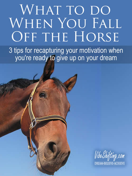 What to do When You Fall Off the Horse - Pinterest pin