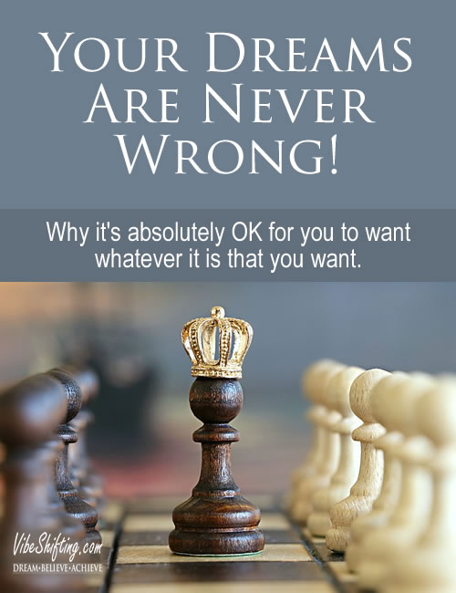 Your dreams are never wrong - Pinterest pin