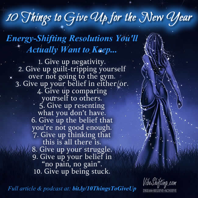 10 Things to Give Up for the New Year - Instagram