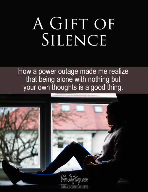 A Gift of Silence - Pinterest pin