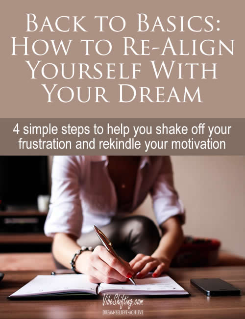 how to realign yourself with your dream - pinterest pin