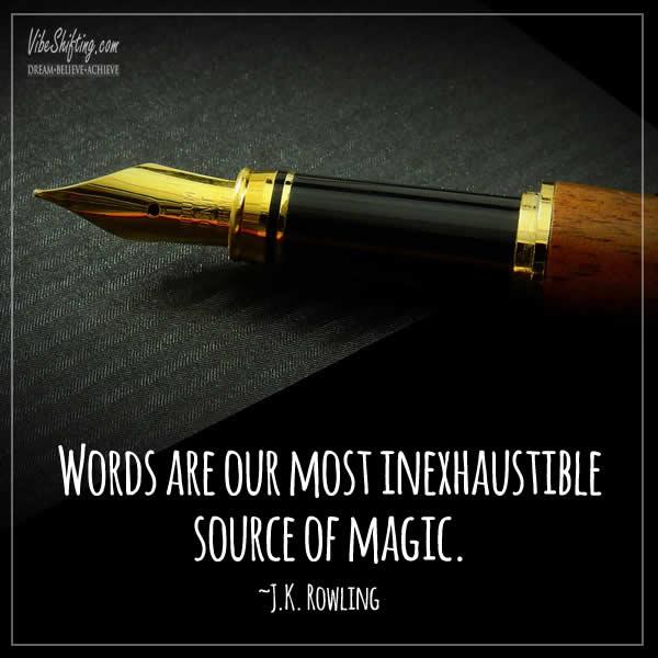 words are magic quote