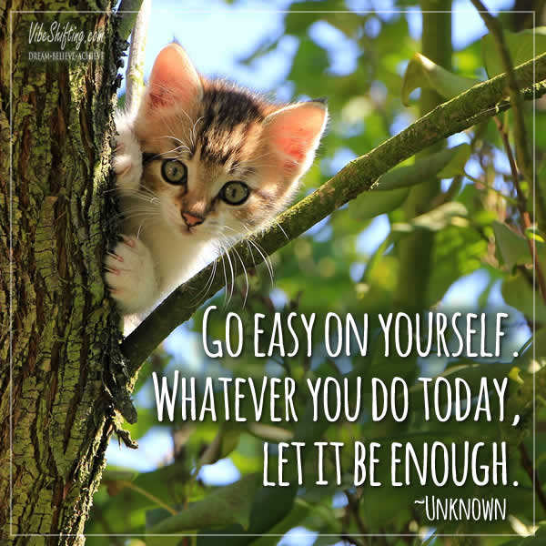 Go Easy On Yourself Quote