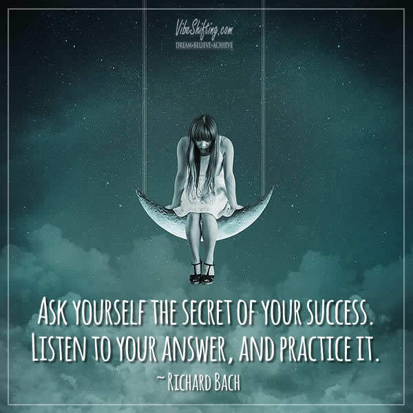 Quote about finding the secret of success within yourself