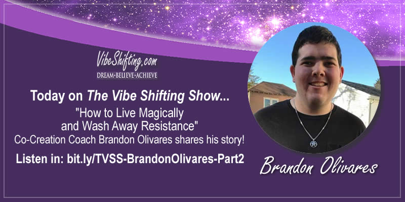 The Vibe Shifting Show Interview with Brandon Olivares - Part 2
